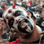 An Insane Clown Posse fan or Juggalo, at a gig in Colorado in 2003. Photograph: Soren McCarty/WireImage